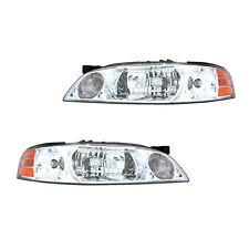 Fits 2000-2001 Nissan Altima Driver + Passenger Headlight Lamp Assembly 1 Pair
