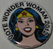 "1.25"" Vote Wonder Woman 2012"" Campaign Pin - Licensed by DC Comics"