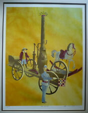 Francis Atlee Caldwell, LISTED California Mod serigraph in colors rare