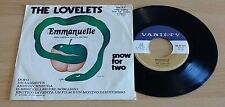 "THE LOVELETS - EMMANUELLE / SNOW FOR TWO - 45 GIRI 7"" - ITALY PRESS"