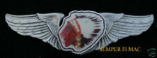 Lafayette Escadrille WING HAT PIN UP WW 1 FRENCH AIR FORCE INDIAN HEAD CHIEF