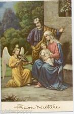 Angelo suona Violino per Gesù Bambino Musica Angel Xmas PC Circa 1930