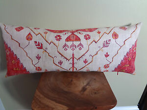 Decorative Pillow Cover Vintage Style Cream-Beige Red Yellow Pattern
