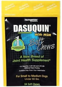 Nutramax Dasuquin 84 Soft Chews With MSM SM/MED Dogs Joint Health Supplement