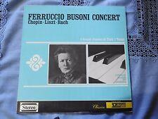 LP FERRUCCIO BUSONI CONCERT - CHOPIN LISZT BACH