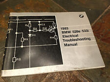 1983 BMW E28 528e 528i 533i Electrical Troubleshooting Wiring Diagram Manual