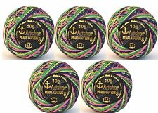 ANCHOR Variegated Multi Pearl Cotton embroidery cross stitch thread Ball Size 8