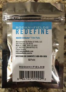 RODAN + FIELDS REDEFINE Macro Exfoliator Filter Pads #52 each NEW/SEALED