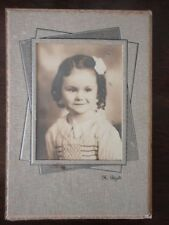 Instant Family Photo Bi-Fold Frame Child Girl Curly Hair H Petzold