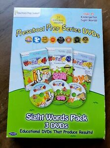 Preschool Prep Series 3 DVDs Sight Words Pack Educational Kindergarten