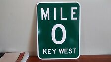 "MILE 0 Key West PVC Sign  9"" x 12"""