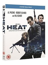 HEAT (REMASTERED DIRECTORS CUT) BLU RAY 2 DISC NEW! ROBERT DE NIRO AL PACINO