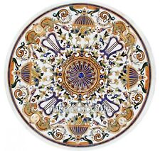 84 Inches Marble Hotel Bar Table Top Handmade Dining table with Pietra Dura Art