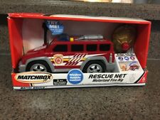 Rare Matchbox Wireless Remote Control Fire Rig Truck Rescue Net Vehicle New