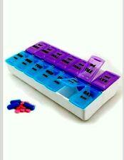 7Day Pills Box Medicine Tablet Dispenser Organizer Weekly Storage Case  AM/PM uk
