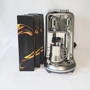 SAGE Nespresso Creatista + Coffee Machine (with 42 expreso pods)