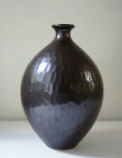 Bombay Company Vintage Brown Vase Textured Tall Decorative Home Decor