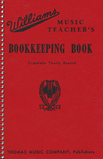 Williams Music Teacher's Bookkeeping Book - Record Book