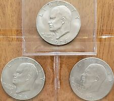 3 Different Eisenhower **** Ike Dollars **** Check It Out!  #AA232-1