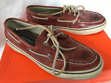 Sperry Top-Sider Bahama 2_Eye Burnished Brown Leather Loafers Boat Shoes Men's 8