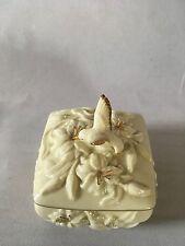 Lenox Hummingbird Gold Gilded Trinket Box - With Lenox Marking & Label