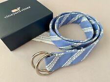 Nwt Vineyard Vines S Unisex Light Blue Rope Design Cotton Belt Small Free Ship