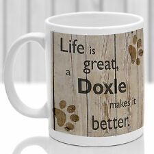 Doxle dog mug, Doxle dog gift, ideal present for dog lover