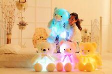 Glowing Kids Gifts Light Up Teddy Bear Plush Toy Led Stuffed Colourful Gift UK