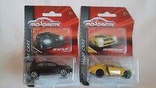 MAJORETTE NEW OUT PREMIUM CARS VW GOLF VII GTi IN BLACK,YELLOW CHEVROLET CAMARO