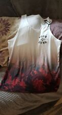 River Island Mens Vest Top, Urbsn White Size M Uk, Eur 3, Design On Front, bnwt
