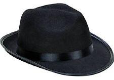 Kangaroo Fedora / Gangster Hat - Felt - Black, Black Costume Party, Style NEW