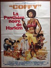 Affiche COFFY LA PANTHERE NOIRE DE HARLEM Blaxploitation PAM GRIER 120x160cm *