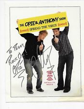 The Opie and Anthony Show SIGNED Poster for Satellite Radio