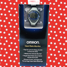 Omron HR-310 Heart Rate Monitor LED Smart Exercise Watch with Chest Strap Gray