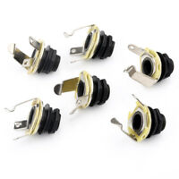 6*Black 1/4' Mono Input Output Guitar Jack Socket For Electric Guitar Parts