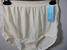Dixie Belle Classic Vintage Look Lace Trim Beige Full Panty Brief Size 7