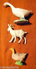 oca anatra capra del presepe crib vintage marchi made in italy goose duck goat