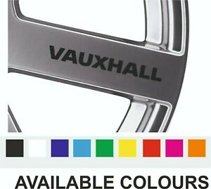 6 x VAUXHALL Quality Alloy Wheel decals stickers, various colours 60mm