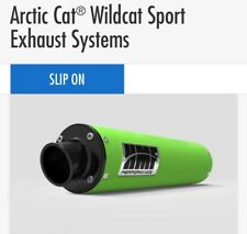 Arctic Cat Wildcat sport 2016-2017 HMF Performance Slip On Exhaust green/black