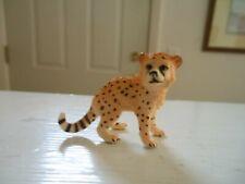 "Scheich #14747 Wild Life Cheetah Cub 1"" H Figurine Plastic"
