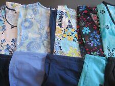 Womans Lot Of Scrub Sets, 5 Tops, 5 Pants, Nuc Size S (Box 404)