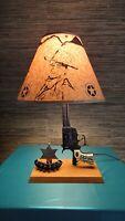 1950's Texas Ranger 44 LESLIE-HENRY Cap Gun Lamp With John Wayne Shade/ Western