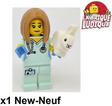 Lego - Figurine Minifig Minifigurine série 17 Veterinarian vétérinaire lapin NEW