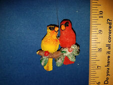 Cardinal Ornament Male and Female on Branch 67244 141