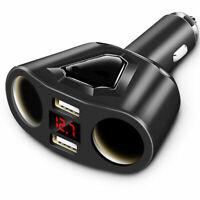 Dual USB Charger 2 Way Car Cigarette Lighter Socket Splitter Adapter DC 12V 3.1A