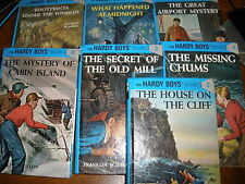 lot of 7 hard cover Hardy Boys books