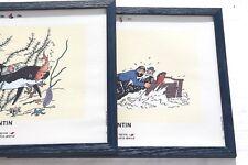 Tableau Tintin décoration Lot 2 cadres Rackham Le Rouge moderne deco marine Neuf