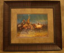 "ANDY THOMAS FRAMED ""THE WILD ONE"" OPEN EDITION PRINT **COWBOY & HORSE**"