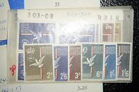 MALTA #303-308 MINT NEVER HINGED EXTREMELY ULTRA FINE SINGLE