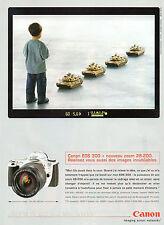 Publicité 2000  Appareil photo CANON EOS 300 + nouveau zoom 28-200